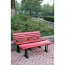 Malta Outdoor Metal Wood Garden Bench Image 11