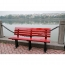 Malta Outdoor Metal Wood Garden Bench Image 12