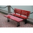 Malta Outdoor Metal Wood Garden Bench Image 14