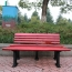 Malta Outdoor Metal Wood Garden Bench Image 1