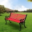 Outdoor Cast Iron Wooden Garden Bench