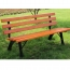 Eco Long Composite Wood Bench Image 1