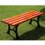 Valreda Backless Wood Park Bench Image 1