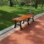 Valreda Backless Wood Park Bench Image 2