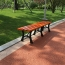 Valreda Backless Wood Park Bench
