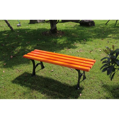 Valreda Backless Wood Park Bench Image 3