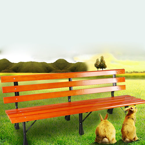 Valreda Backless Wood Park Bench Image 4