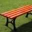Valreda Backless Wood Park Bench Image 5