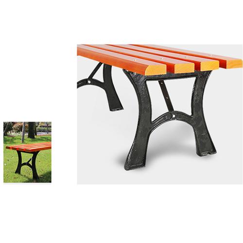 Valreda Backless Wood Park Bench Image 6