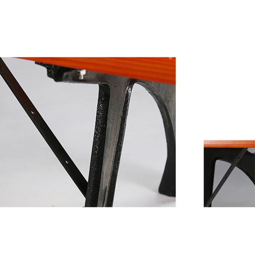 Valreda Backless Wood Park Bench Image 7