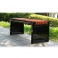 Metal Garden Bench With Wooden Upholstered Image 5