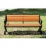 Leisure Garden Bench With Long Stool Image 8