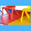 Kindergarten Plastic Rectangle Table With Six Chair Image 9