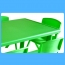 Kindergarten Plastic Rectangle Table With Six Chair Image 11