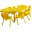 Kindergarten Moon Table and Chairs Set Image 1