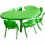Kindergarten Moon Table and Chairs Set