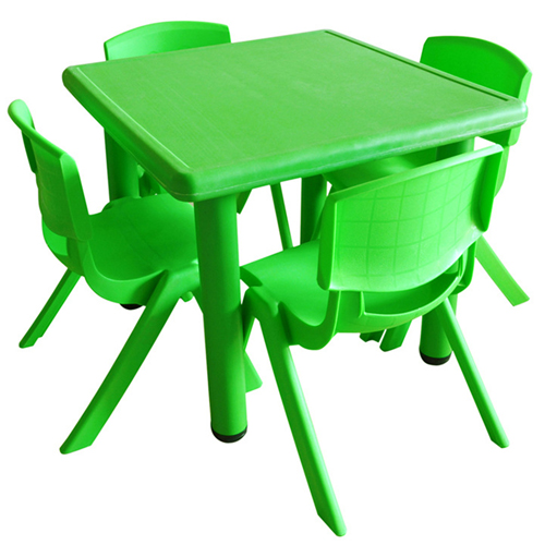 Kindergarten Square Table And Chairs Set Image 2