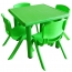 Kindergarten Square Table And Chairs Set