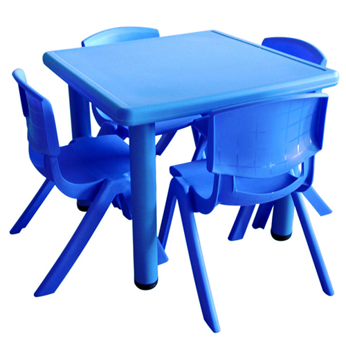 Kindergarten Square Table And Chairs Set Image 3