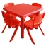 Kindergarten Square Table And Chairs Set Image 4