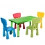 Kindergarten Rectangular Table and 4 Chairs Set