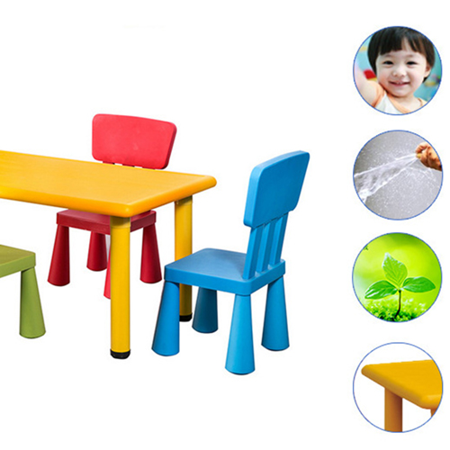 Kindergarten Rectangular Table and 4 Chairs Set Image 8