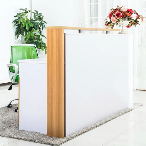 Glassiture Front Wooden Reception Desk Image 6