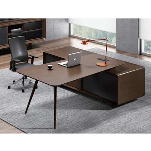 Creative Walnut Manager Desk Image 9
