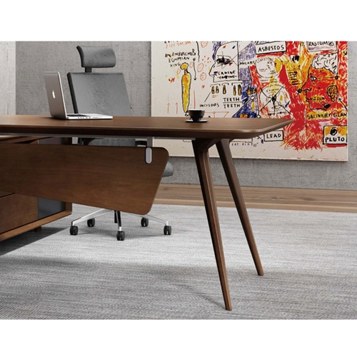 Creative Walnut Manager Desk Image 10