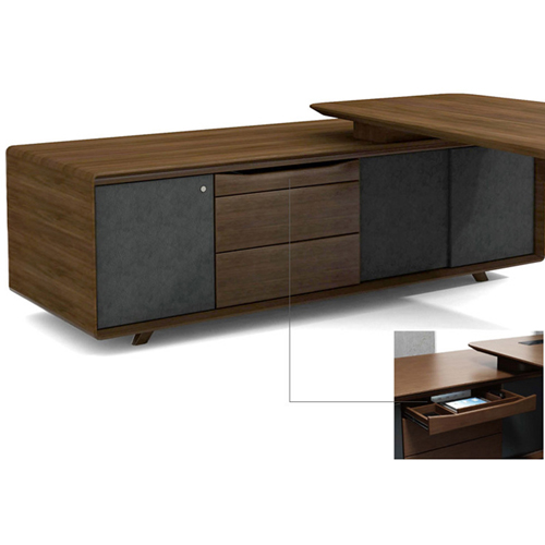 Creative Walnut Manager Desk Image 12