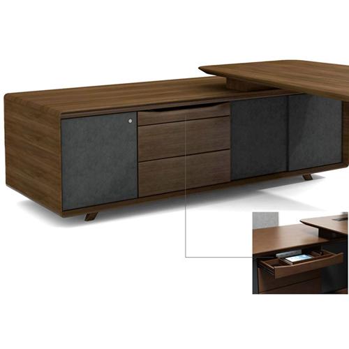 Creative Walnut Manager Desk Image 12