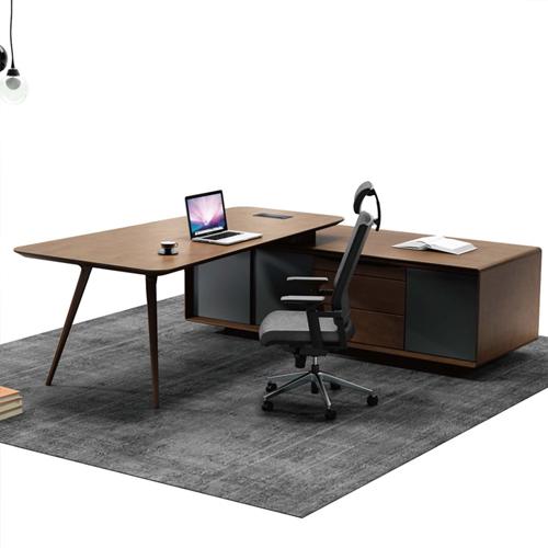 Creative Walnut Manager Desk Image 1