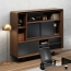 Creative Walnut Manager Desk Image 2