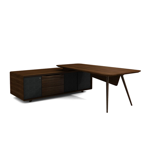 Creative Walnut Manager Desk Image 4