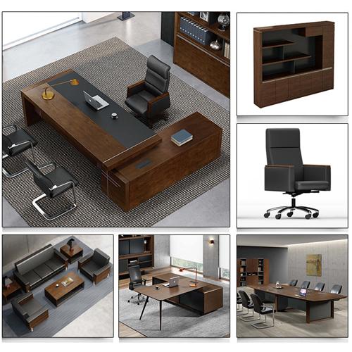 Creative Walnut Manager Desk Image 5