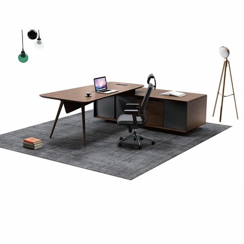 Creative Walnut Manager Desk Image 6