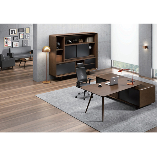 Creative Walnut Manager Desk Image 8