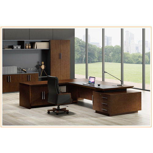 Executive Multi-Plate Minimalist Desk Image 8