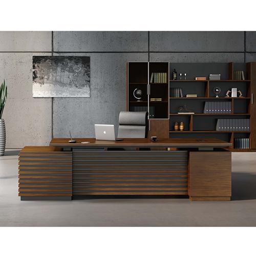 Modern Large Office Desk Set Image 9