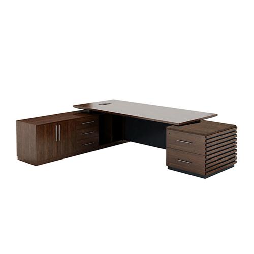Modern Large Office Desk Set Image 3