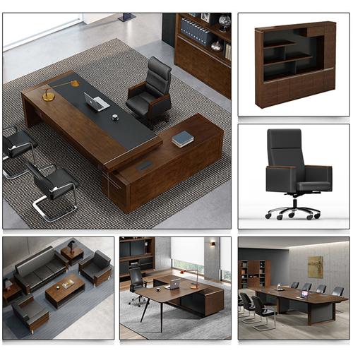 Modern Large Office Desk Set Image 5