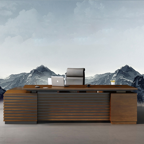 Modern Large Office Desk Set Image 6