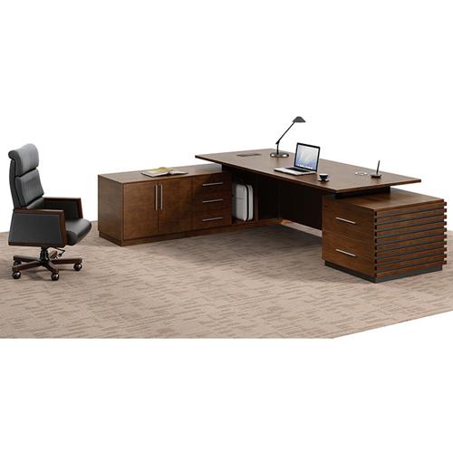 Modern Large Office Desk Set Image 7