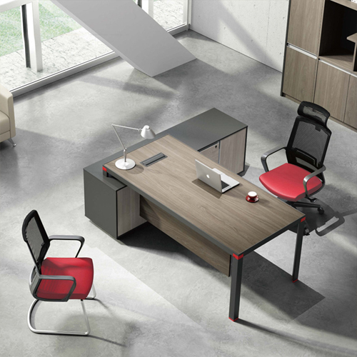 Bytrex Office Table With Side Cabinet Image 1
