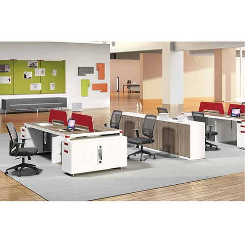 Bytrex Office Table With Side Cabinet Image 6