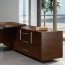 Wooden Executive Table with Side Cabinet Image 11