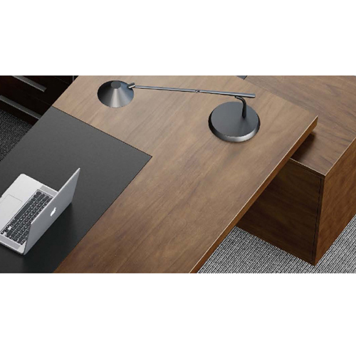 Wooden Executive Table with Side Cabinet Image 13