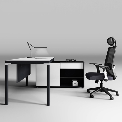 Darwin Executive Desk with Side Cabinet Image 1