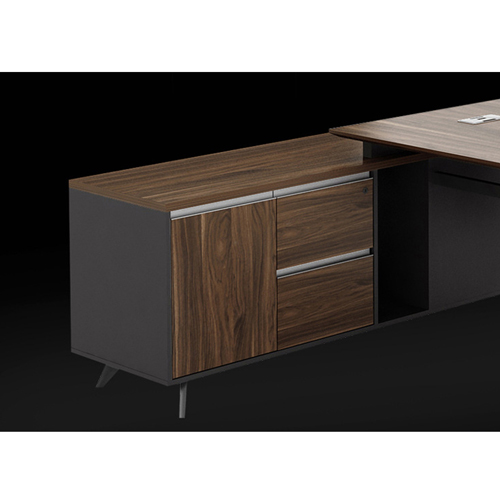 Credenza Executive Desk with Side Cabinet Image 9