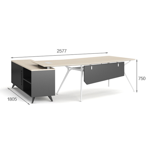 Credenza Executive Desk with Side Cabinet Image 14